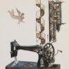 Ραπτομηχανή ΜεταξοτSowing Machine Silkscreen by Vasiliou Spiros at Ikastikos Kiklos Sianti Gallery.υπία του Σπύρου Βασιλείου στον Εικαστικό Κύκλο Sianti