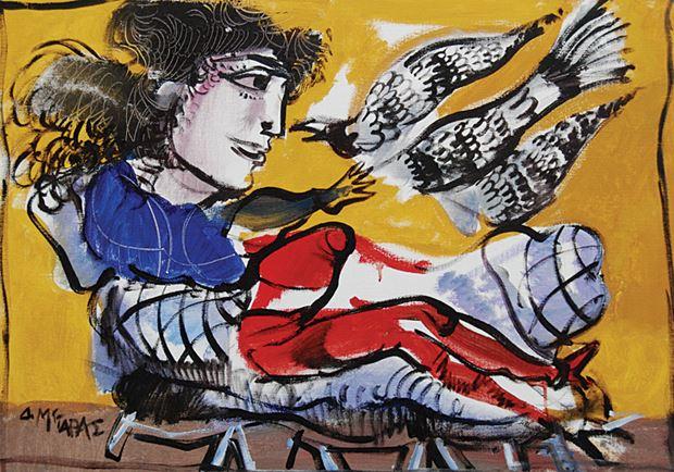 Κοπέλα Ζωγραφικό Έργο του Δημήτρη Μυταρά στον Εικαστικό Κύκλο Sianti