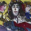Young Woman Painting by Mytaras Dimitris at Ikastikos Kiklos Sianti Gallery.