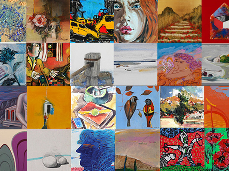 Small Paintings 2016-2017 Exhibition at Ikastikos Kiklos Sianti Gallery