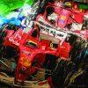 Double Ferrari Ζωγραφικό Έργο της Μίνας Παπαθεοδώρου Βαλυράκη στον Εικαστικό Κύκλο Sianti