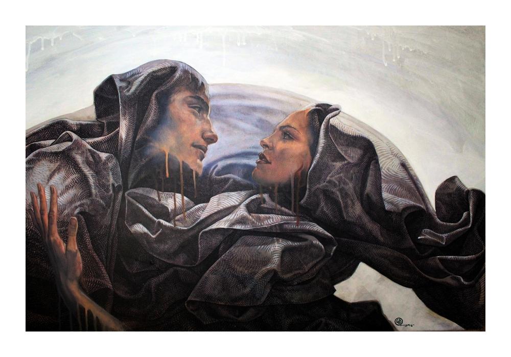 Can't Take My Eyes Off You Silkscreen by WD at Ikastikos Kiklos Sianti Gallery.