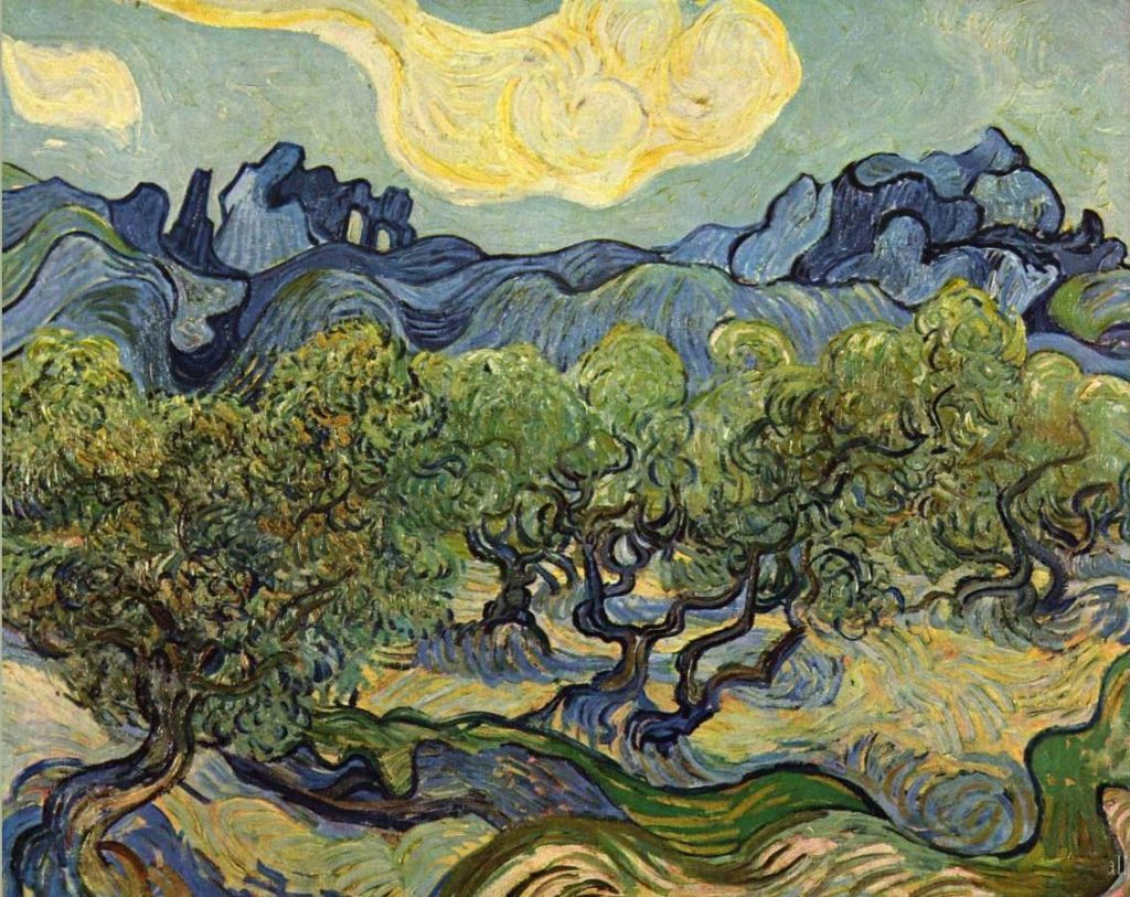 Van Gogh, Landscape with Olive Trees