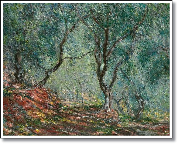 Olive Trees in the Moreno Garden Painting - Claude Monet
