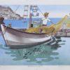 Ξεψάρισμα στο Λιμάνι Λιθογραφία του Κώστα Γραμματόπουλου