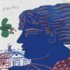 Μπλε Νέος Μεταξοτυπία του Αλέκου Φασιανού στον Εικαστικό Κύκλο Sianti