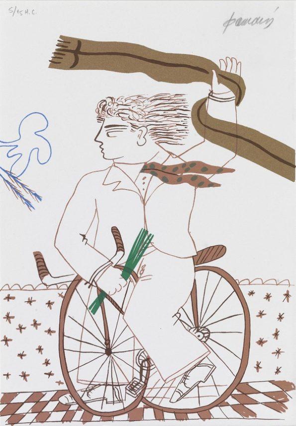Ποδηλάτης με Φουλάρι