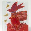 Red Young Man plate by Fassianos Alekos at Ikastikos Kiklos Sianti Gallery