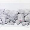 Πέτρες με Ροζ Λουλούδι Μεταξοτυπία του Σωτήρη Σόρογκα στον Εικαστικό Κύκλο Sianti