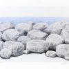 Πέτρες πλάι στη θάλασσα Μεταξοτυπία του Σωτήρη Σόρογκα στον Εικαστικό Κύκλο Sianti