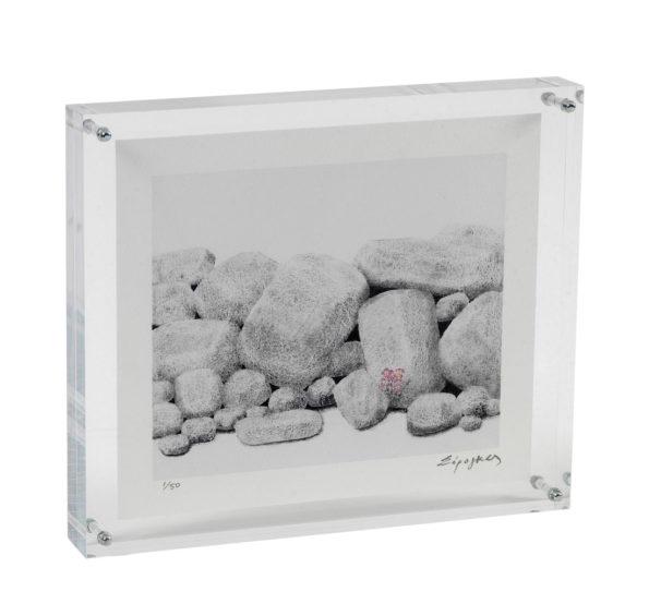 Πέτρες με Ροζ Λουλούδι