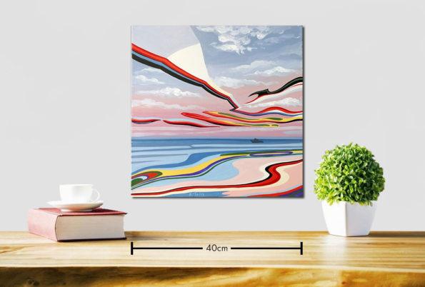 Horizon Painting by Konstantinos Tolis at Ikastikos Kiklos Sianti Gallery