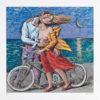 Summer Love Silkscreen by Pavlos Samios at Ikastikos Kiklos Sianti Gallery