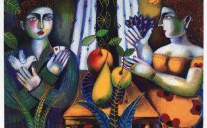 Βασίλης Σπεράντζας - Ζευγάρι με φρούτα