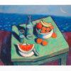 σάμιος-παύλος-τραπέζι-στην-θάλασσα-μεταξοτυπία