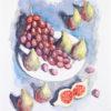 σάμιος-παύλος-φρούτα-μεταξοτυπία