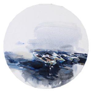 σπυριούνης-κώστας-βάρκες-ζωγραφικό-έργο